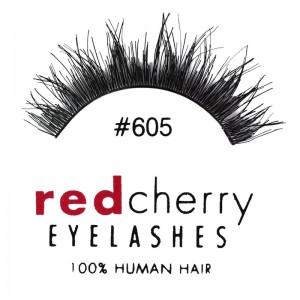 Red Cherry - False Eyelashes No. 605 Berkeley - Human Hair