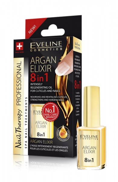 Eveline Cosmetics - Nagelöl - Nail Therapy Conditioner professionelles Argan-Elixier