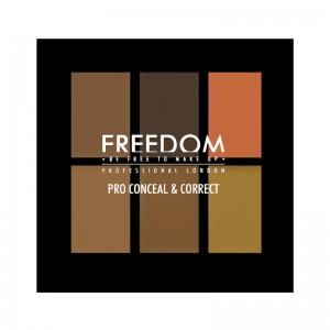 Freedom Makeup - Concealer Palette - Pro Conceal Palette - Dark