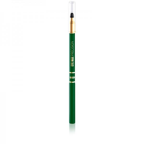 Eveline Cosmetics - Eyeliner - Eye Max Precision-Automatic Eye Pencil With Sponge - Green