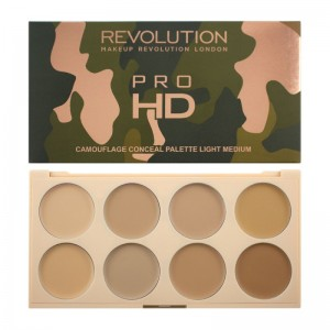 Makeup Revolution - Concealerpalette - Pro HD Camouflage Light Medium
