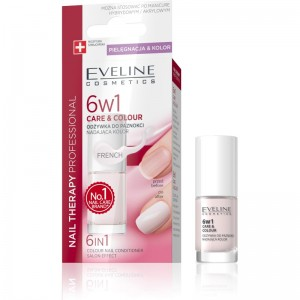 Eveline Cosmetics - Nagellack - Nail Therapy 6In1 Care & Colour French
