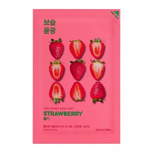 Holika Holika - Gesichtsmaske - Pure Essence Mask Sheet - Strawberry