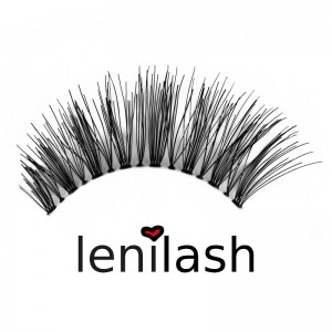 lenilash - Falsche Schwarze Wimpern Nr. 117 - Echthaar