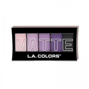 LA Colors - Lidschattenpalette - 5 ColorMatte Eyeshadow - Purple Cashmere