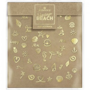 essence - Nagelsticker - Vintage BEACH nail stickers - 01 Shell We Go To The Beach?