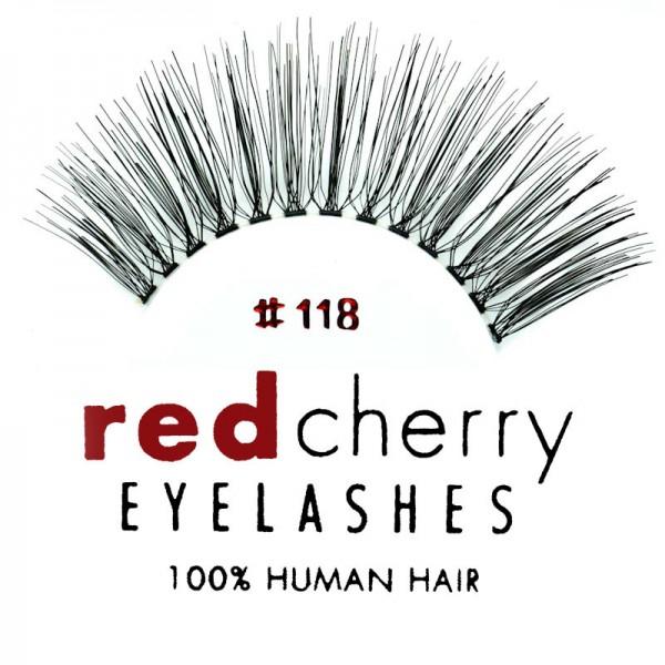 Red Cherry - False Eyelashes Nr. 118 Simone - Human Hair