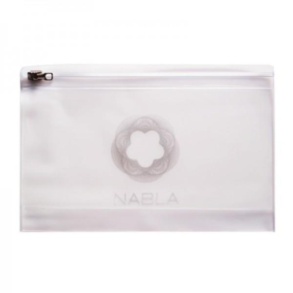 Nabla - Makeup Bag - opal plastic with zipper 20,5 cm x 13,5 cm