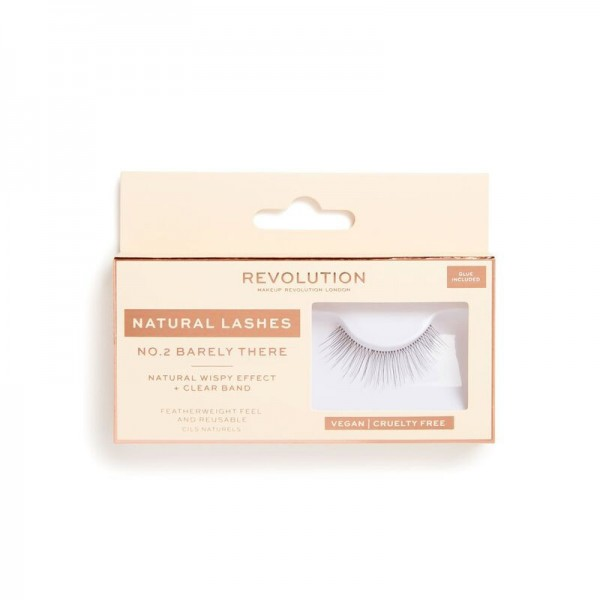 Revolution - Falsche Wimpern - Natural Lashes - No.2 - Barely There