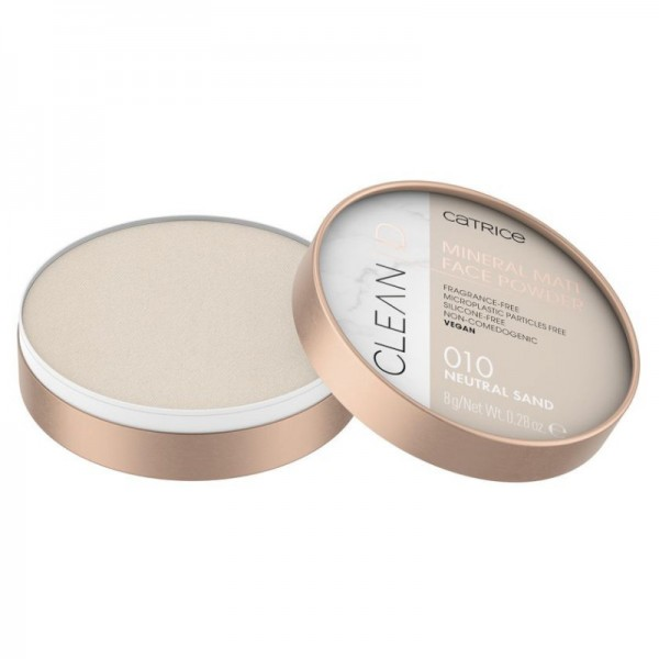 Catrice - Puder - Clean ID Mineral Matt Face Powder - 010 Neutral Sand