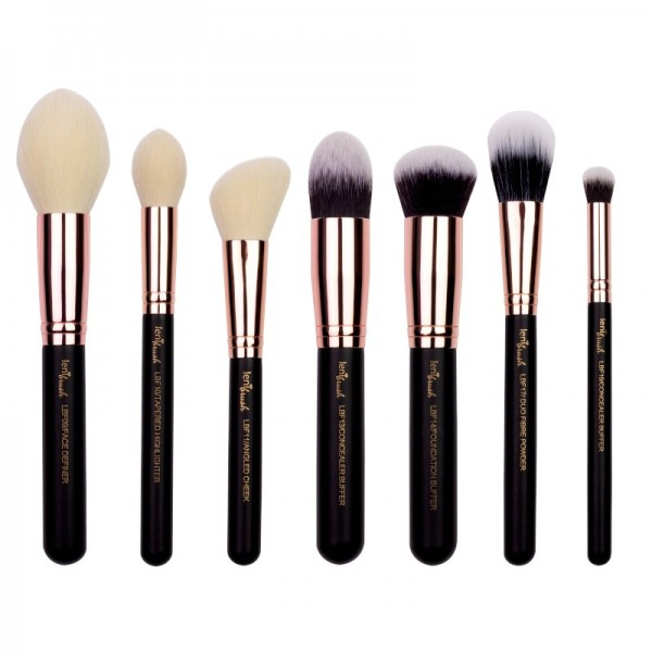 lenibrush - Kosmetikpinselset - Flawless Face Set - Matte Black Edition