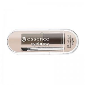 essence - Augenbrauen Set - eyebrow stylist set - 01 - natural brunette style