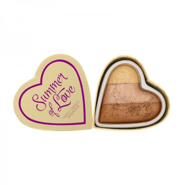 I Heart Makeup - Triple Baked Bronzer - Blushing Hearts - Hot Summer of love