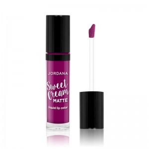Jordana - Flüssiger Lippenstift - Sweet Cream Matte Lip Color - Sugared Plum