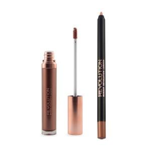 Makeup Revolution - Flüssiger Lippenstift - Retro Luxe - Metallic Lip Kit - We Rule