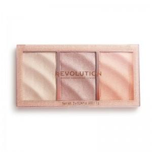 Revolution - Highlighter - Precious Stone Highlighter Palette - Rose Quartz