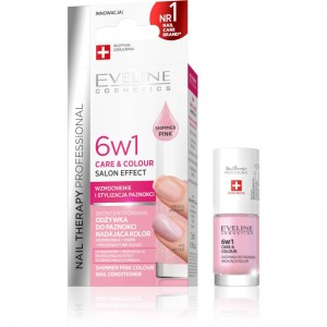 Eveline Cosmetics - Nagellack - Nail Therapy Professional Care & Colour - Shimmer Pink