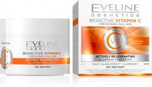 Eveline Cosmetics - Gesichtscreme - Bioactive Vitamin C aktiv verjüngende Tages- und Nachtcreme