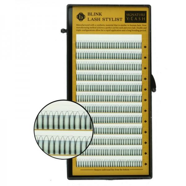 Blink - Schwarze Einzelwimpern - Y-Lash - C-Curl - Durchmesser 0,15mm