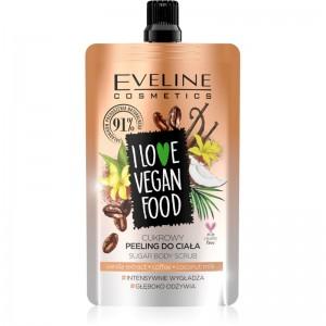 Eveline Cosmetics - Körperpeeling - I Love Vegan Food Vanilla Latte Body Scrub