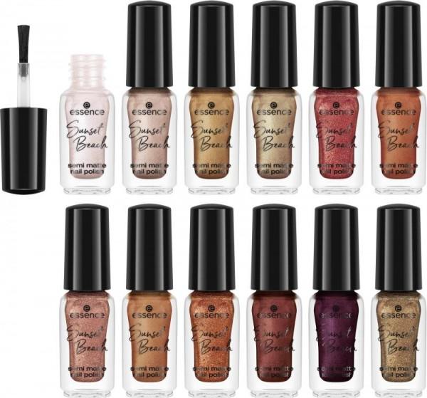 essence - Nagellack Set - online exclusives - Sunset Beach semi matte nail polish set 01 - beyond th