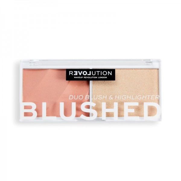 Revolution Relove - Rouge & Highlighter - Blushed Duo Blush & Highlighter - Sweet