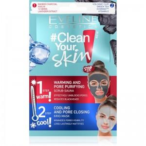 Eveline Cosmetics - Gesichtsmaske - Clean Your Skin Scrub-Sauna + Krio-Masken-Set