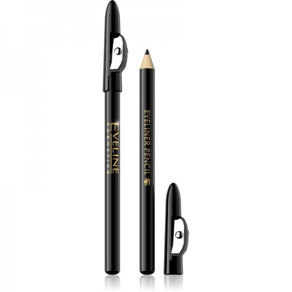 Eveline Cosmetics - Eyeliner - Eyeliner Pencil Long-Wear - Black