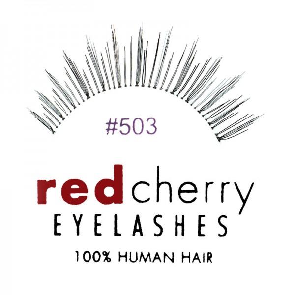 Red Cherry - False Eyelashes No. 503 Sweetpea - Human Hair