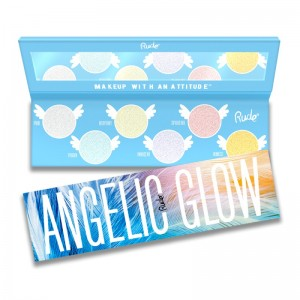 RUDE Cosmetics - Highlighter & Lidschattenpalette - Highlighter + Eyeshadow - Angelic Glow