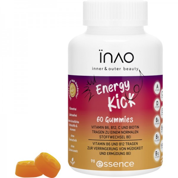 INAO by essence - Nahrungsergänzungsmittel - inner and outer beauty Energy Kick gummies