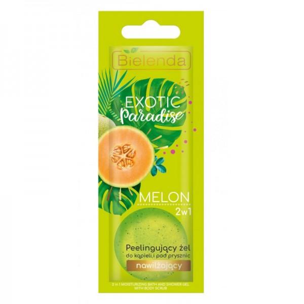 Bielenda - Duschgel - Exotic Paradise 2In1 Peeling Bath And Shower Gel Moisturizing Melon