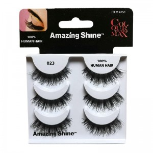 Amazing Shine - Falsche Wimpern - Colour to the Max - Nr. 023 - Echthaar - 3Pack