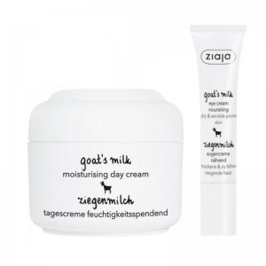 Ziaja - Set per la cura della pelle - Goats Milk Day Cream + Goats Milk Eye Cream