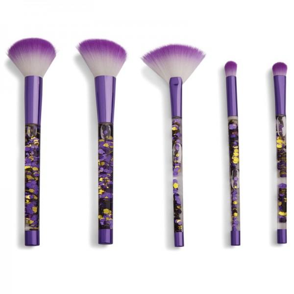 I Heart Revolution - Fortune Seeker Purple Glitter Brush Set