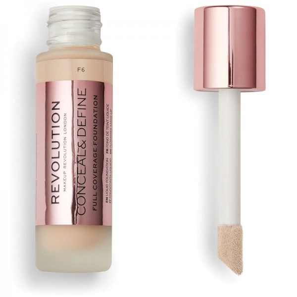 Makeup Revolution - Conceal & Define Foundation F6
