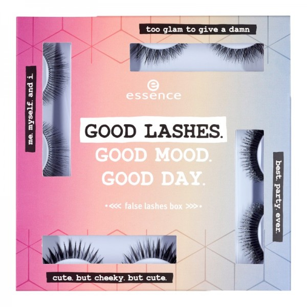 essence - Falsche Wimpern - online exclusives - good lashes.good mood.good day. false lashes box 01