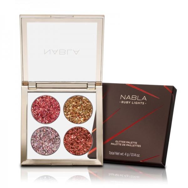 Nabla - Lidschattenpalette - Side by Side Collection - Ruby Lights Glitter Palette