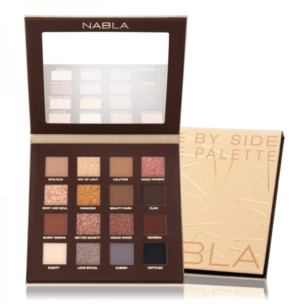 Nabla - Eyeshadow Palette - Side by Side Collection - Side By Side Nude Palette