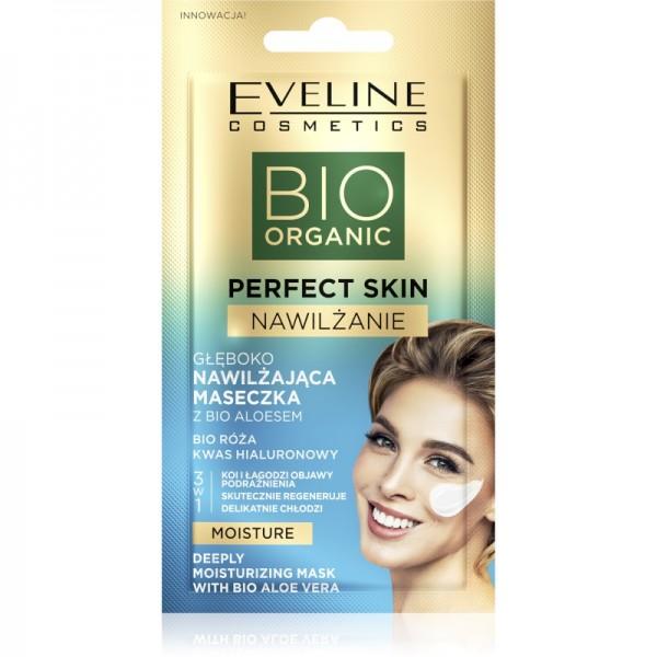 Eveline Cosmetics - Gesichtsmaske - Bio Organic - Perfect Skin Tiefenwirksame Feuchtigkeitsmaske - B