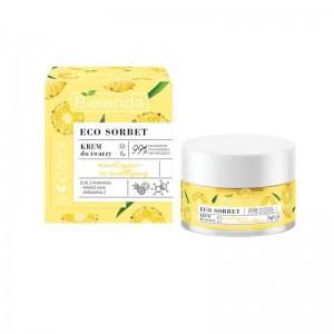 Bielenda - Gesichtscreme - Eco Sorbet - Pineapple - Face Cream Moisturizing + Brightening - 50 ml
