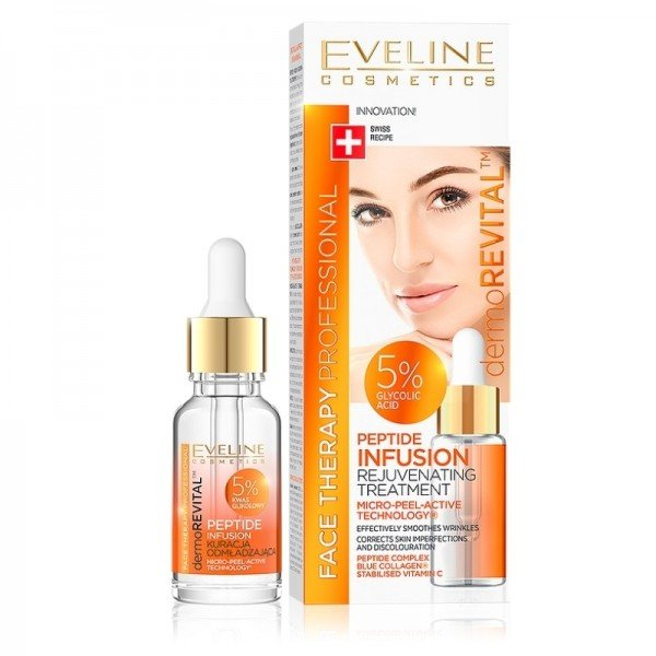 Eveline Cosmetics - Siero per il viso - Face Therapy Professional Peptide Infusion Rejuvenating Treatment 5% Glycolic Acid