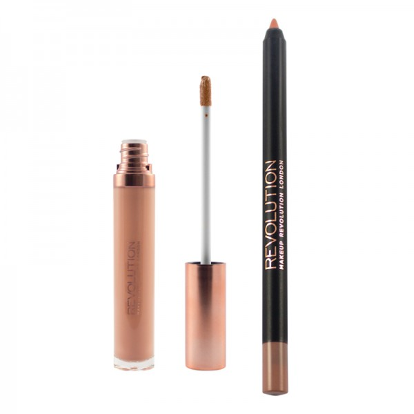 Makeup Revolution - Liquid Lipstick - Retro Luxe - Gloss Lip Kit - Honour