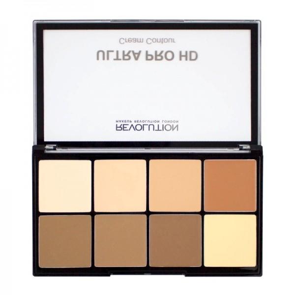 Makeup Revolution - Contour Palette - Ultra Pro HD Cream Contour - Light Medium