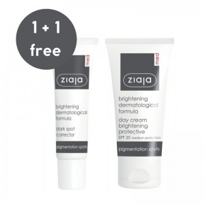 Ziaja Med - Pflegeset - Brightening Protective Day Cream + Brightening Dark Spot Corrector