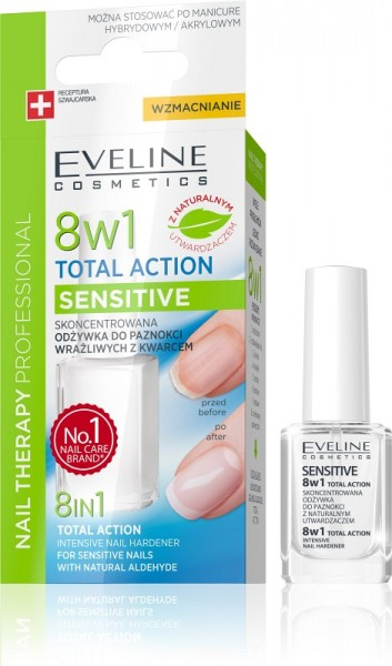 Eveline Cosmetics - Nagelhärter - Nail Therapy Professional Total Action 8In1 Sensitive Nail Hardene