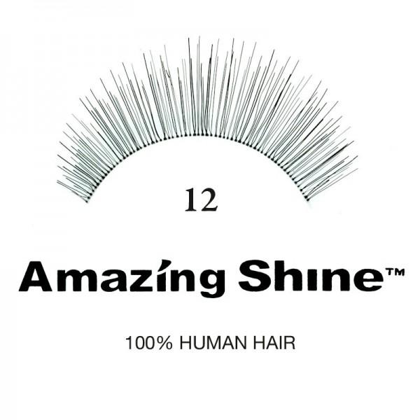 Amazing Shine - Falsche Wimpern - Wimpernbänder - Nr. 12 - Echthaar
