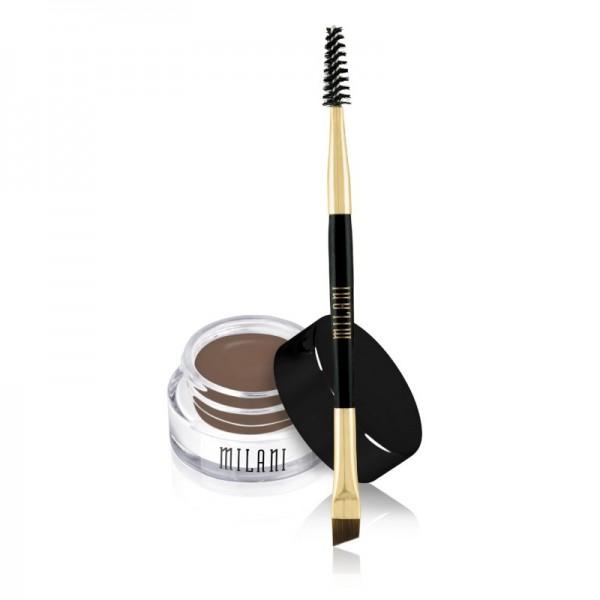 Milani - Eyebrow Pomade - Stay Put Brow Color - Dark Brown