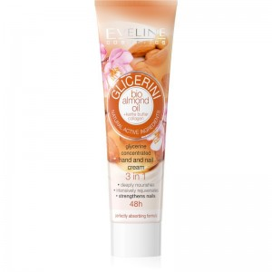 Eveline Cosmetics - Handcreme - Glicerini Concentrated Hand & Nail Cream Bio Almond Oil