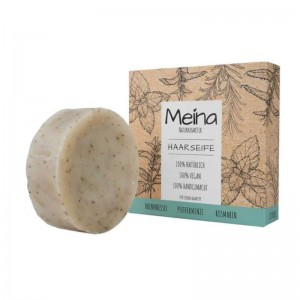 Meina Naturkosmetik - Hair Soap with Brennnessel, Pfefferminze & Rosmarin - Every hair type